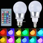 10W E27 E14 LED Color Changing RGB Magic Light Bulb Lamp + IR Remote Control NEW