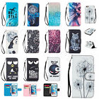 For Samsung Anti-Scratches Leather+TPU Rubber Strap Card Stand Wallet Case Cover