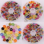New 200pcs 5*4mm/ Dia 8mm Mixed Acrylic Faceted Crystal Charm Beads Jewelry