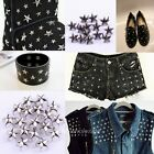 Punk 200pcs Rock Star Shaped Stud Rivet Spike Shoes/Bags/Costume Craft 7mm/12mm