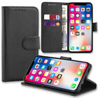 Case for Apple iPhone XS Max 6 7 8 5 Plus Cover Real Genuine Leather Flip Wallet
