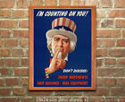 I'm Counting on You! - WWII US Propaganda Poster