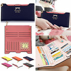 Women Lady PU Leather Wallet Purse Handbag Case Card Holder Bag Clutch Zipper