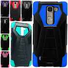 LG Logos US550 Turbo Layer HYBRID KICKSTAND Rubber Case Phone Cover Accessory