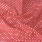 SALMON PINK POLKA DOT 100% cotton fabric  per FQ, half metre or metre