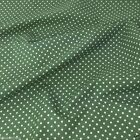 OLD GREEN colour POLKA DOT 100% cotton fabric  per FQ, half metre or metre