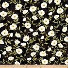 MIDNIGHT POPPIES BLACK WILMINGTON 100% COTTON QUILT SEWING FABRIC *Free Oz Post