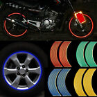 16 Strips Lot Reflective Motorcycle Car Rim Stripe Wheel Decal Tape Sticker 18""