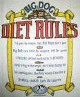 Big Dogs Tee Shirt Diet Rules L XL 4X 5X NEW White Tape Measure Don't Quit