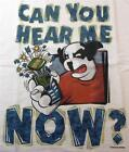 Big Dogs White Tee Shirt Can You Hear Me Now L 2X 4X 5X 6X NEW Cell Phone