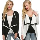 Women Long Sleeve Irregular Blazer Cardigan Coat Fashion Trench Jackets EN24H