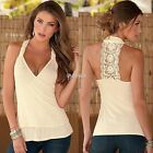 Fashion Summer Women Lace Vest Top Sleeveless Casual Tank Blouse Tops T-Shirt DZ