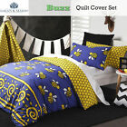 Buzz Bee Honeycomb Reversible Quilt Cover Set by Logan & Mason - SINGLE DOUBLE