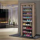 10 Layer 9 Grid Shoe Rack Shelf Storage Closet Organizer Cabinet Portable