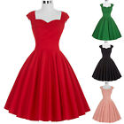 RETRO 50'S 60'S SWING PINUP HOUSEWIFE VINTAGE STYLE COCKTAIL PROM EVENING DRESS