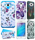 For Samsung Galaxy J7 HARD Hybrid Rubber Silicone Case Phone Cover Accessory