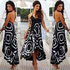 Boho Women Floral Sleeveless Dress Long Maxi Beach Vest Summer Dresses Sundress