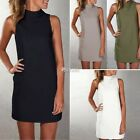 Summer Women Sleeveless Bodycon Casual Party Evening Cocktail Mini Dress Blouse