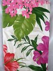 Assorted Sizes Pink Red Purple Tropical Floral Vinyl Tablecloth FREE SHIPPING