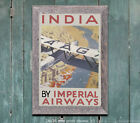 Imperial Airways #3 India - Vintage Airline Travel Poster Print