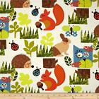 HAPPY SUNSHINE  FOREST CLOUD WHITE NOVELTY QUILT SEWING FABRIC *Free Oz Post