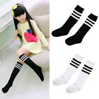 Baby Kids Girls Fashion Over Knee High Long Socks Striped Tights Cotton Age 2-7Y