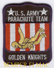 GOLDEN KNIGHTS PATCH US ARMY VETERAN GIFT AIRSHOW PARACHUTE TEAM PARATROOPER WOW