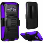 For Samsung Galaxy Amp 2 Hybrid Combo Holster KICKSTAND Rubber Case Cover
