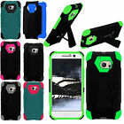 For HTC 10 Turbo Layer HYBRID KICKSTAND Rubber Case Phone Cover + Screen Guard