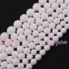 4-16mm Natural Faceted Round White Shell MOP Gemstone Spacer Beads Strand 15""