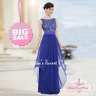 ALICE Cobalt Blue Lace Chiffon Prom Evening Bridesmaid Dress UK SALE!!
