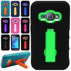 For Samsung Galaxy Amp 2 IMPACT Hard Protector Rubber Case Phone Kickstand Cover