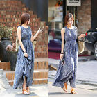 CHIC Women Floral Sleeveless Long Dress Summer Maxi Party Skirt Posh Fashion