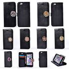 New Coin Moneda Wallet Flip PU Leather+Soft Interior Case Cover For Phones-Black
