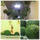 1Pc Artificial Plastic Lush Long Leaf Topiary Flower Ball Hanging Basket Plant