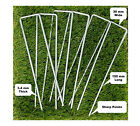 6 '' U Pins Garden Pegs for securing weed fabric netting ground sheet turf metal