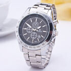 GOLD PLATED MENS LUXURY FASHION STAINLESS STEEL ANALOG QUARTZ DATE WRIST WATCHES