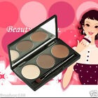 Pro Makeup 3 Colors Eyebrow Powder Concealer Palette With Mirror Eyebrow Brush