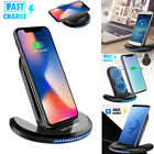 Fast Qi Wireless Charger Charging Pad Stand Dock for Samsung Galaxy S6/S7/S8