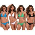 RELLECIGA Women's Sexy Golden Hardware Rings Triangle Top Bikini Set Full Size