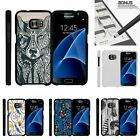 For Samsung Galaxy S7| Slim Fit Hard 2 Piece Case Drawn Designs