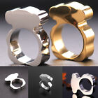 Cute Bear Titanium Steel Ring Gold/Silver Women's Fashion Jewelry Wedding Band