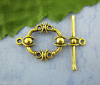 Gift Wholesale Gold Tone Toggle Clasps 21*17mm LEAD FREE