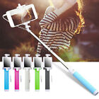 Extendable Handheld Mirror Wired Bluetooth Monopod Selfie Stick for Smartphone