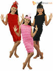 Girls 1920s Fringed Flapper Costume Childrens 20s Charleston Gatsby Fancy Dress