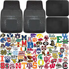 Official Licensed Unviersal Car Truck Auto NCAA Front Rear Rubber Floor Mats