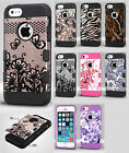 For Apple iPhone 5 5S SE Tuff Trooper HYBRID TPU Case Phone Cover + Screen Guard