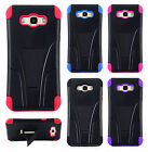 For Samsung Galaxy J7 Advanced HYBRID KICKSTAND Protector Case Cover Accessory