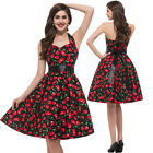 Retro Vintage Party Evening Dress 50s Pinup Swing Prom Cocktail Housewife Short
