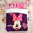Minnie Mouse Quilt Doona Cover Set 100%Cotton Double/Queen/King Bed Fitted Sheet